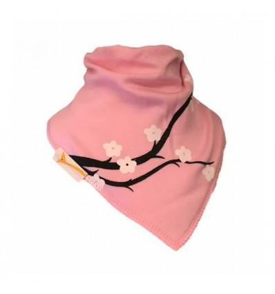 Bavoir bandana Funky Giraffe - Cerisier rose