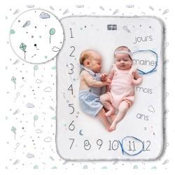 Couverture étape de bébé -Minty White