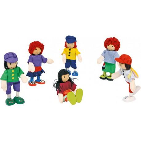 """Petites poupées souples """"6 amis"""""""