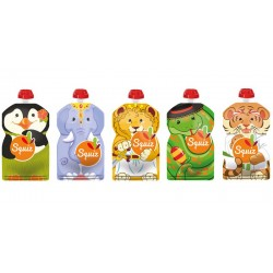 Squiz animaux pack de 5 - 130 ml