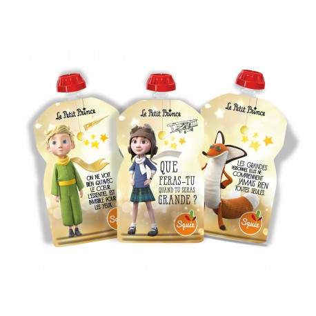Squiz Le Petit Prince Etoiles pack de 3 - 130 ml