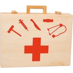 Valise de docteur en bois