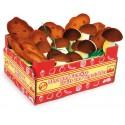 Cageot de pommes de terre et champignons en feutrine