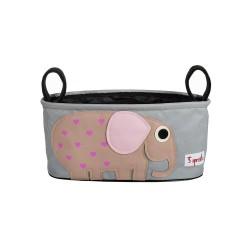 Panier pour poussette - éléphant rose - 3Sprouts