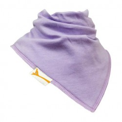 Bavoir bandana Funky Giraffe - uni violet pale