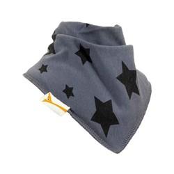 Bavoir bandana Funky Giraffe - Stars en gris et noir