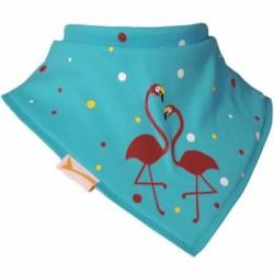 Bavoir bandana Funky Giraffe - Flamants à pois